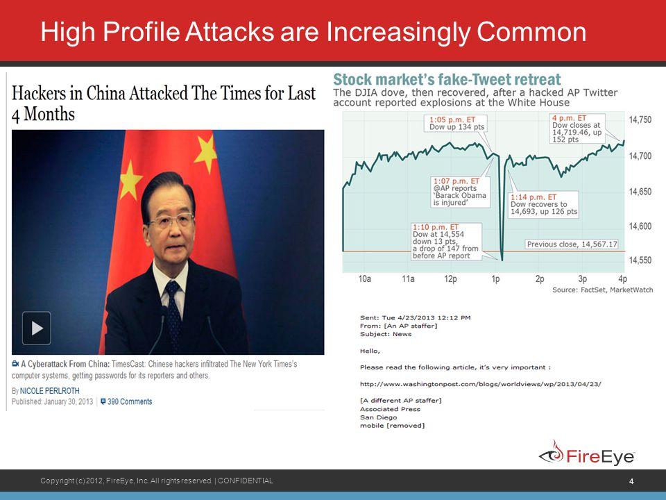 High Profile Attacks are Increasingly Common