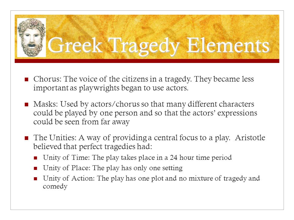 Greek Tragedy Elements