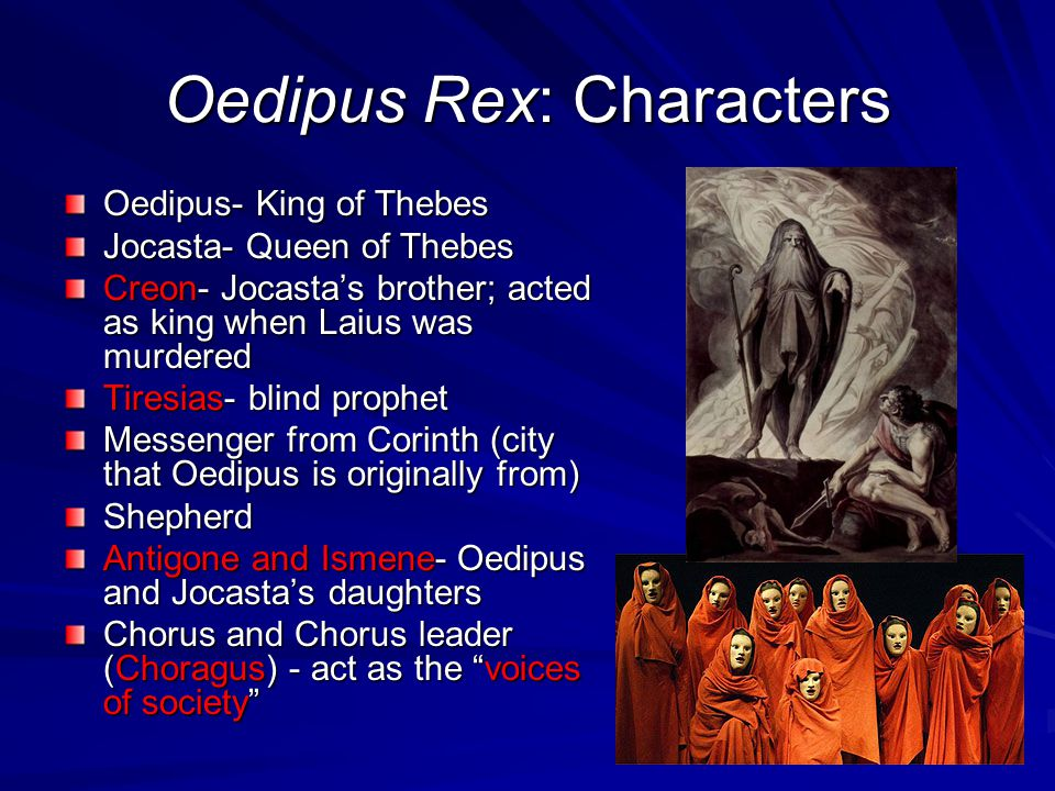 Oedipus Rex: Characters