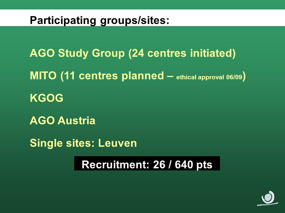 Participating groups/sites:
