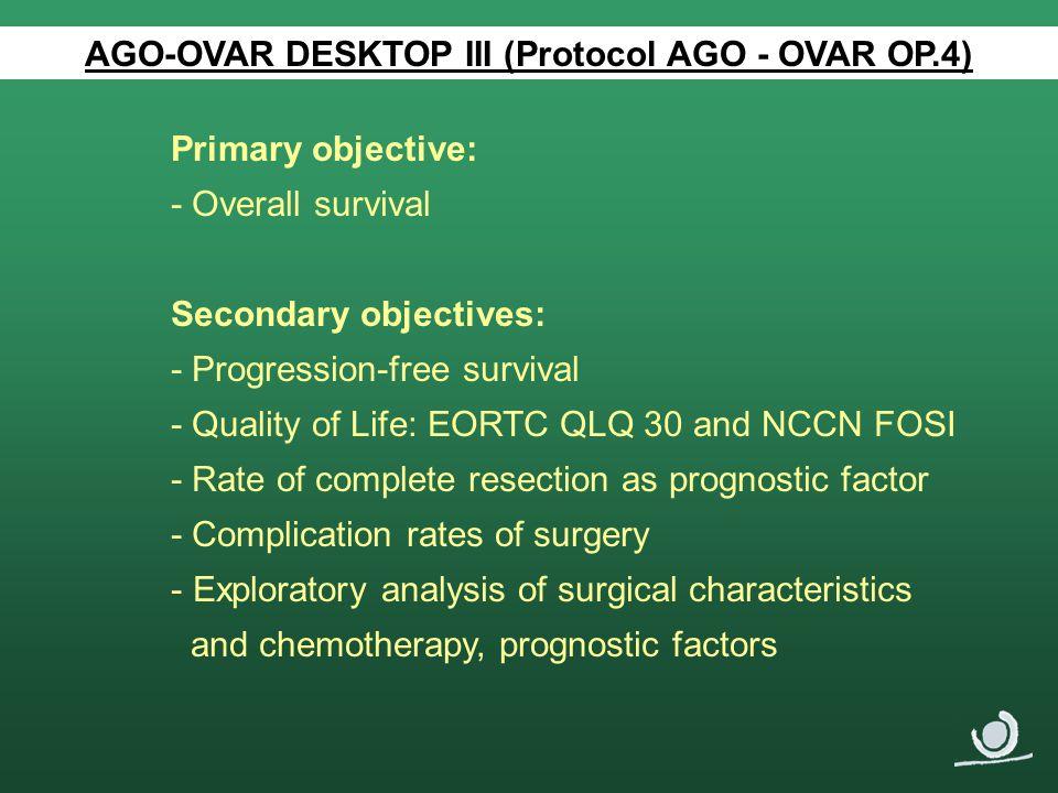 AGO-OVAR DESKTOP III (Protocol AGO - OVAR OP.4)