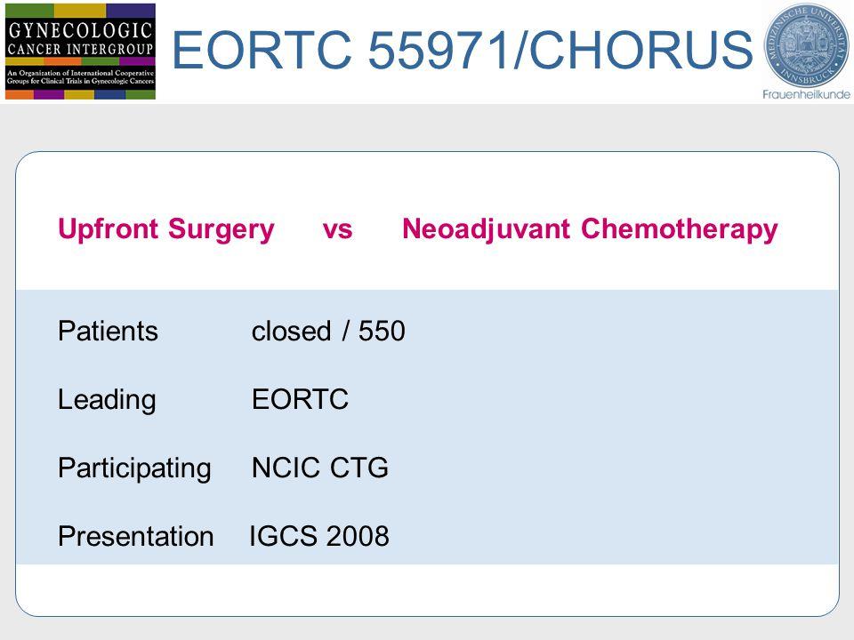 EORTC 55971/CHORUS Upfront Surgery vs Neoadjuvant Chemotherapy
