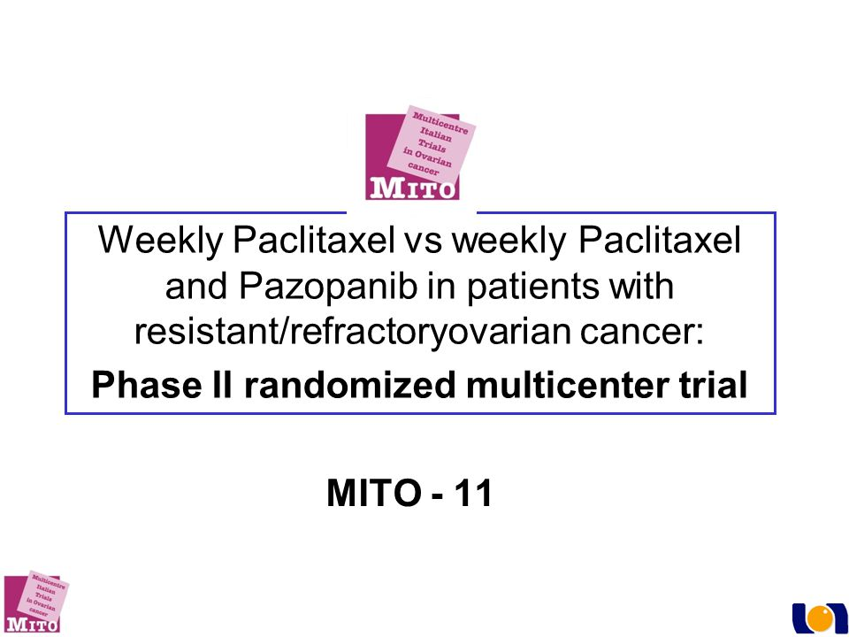 Phase II randomized multicenter trial