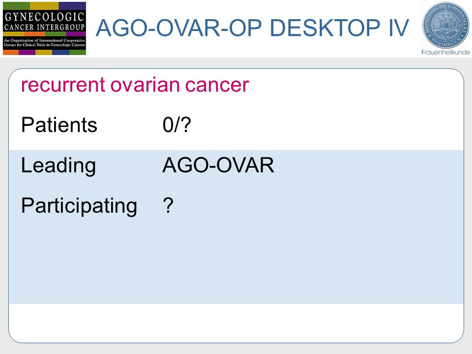 AGO-OVAR-OP DESKTOP IV