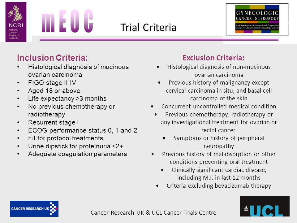 mEOC Trial Criteria Inclusion Criteria: Exclusion Criteria: