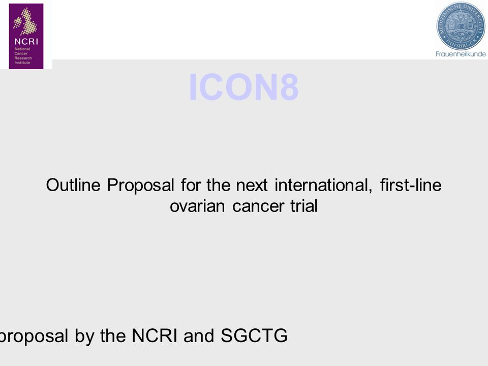 A proposal by the NCRI and SGCTG
