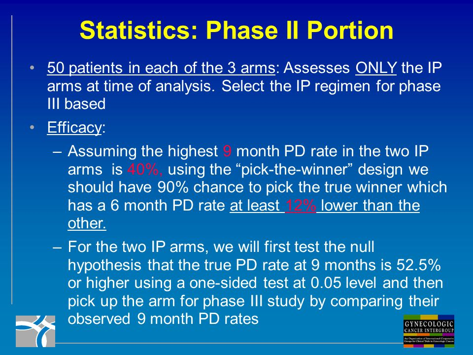 Statistics: Phase II Portion