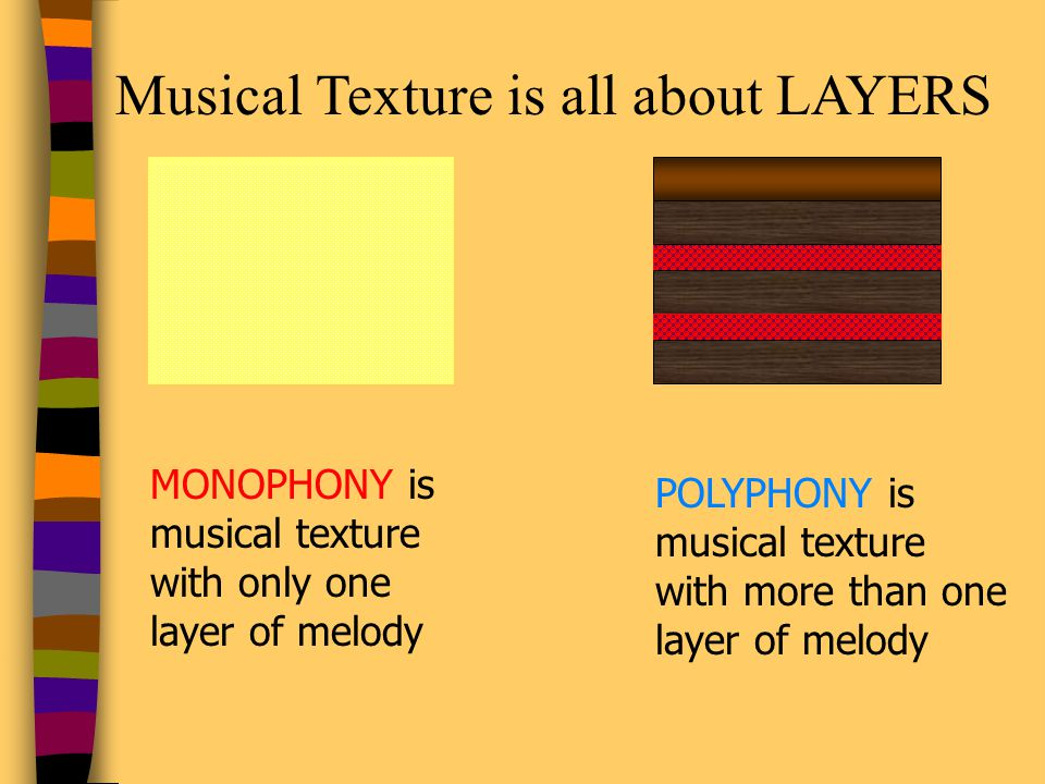 Musical Texture is all about LAYERS
