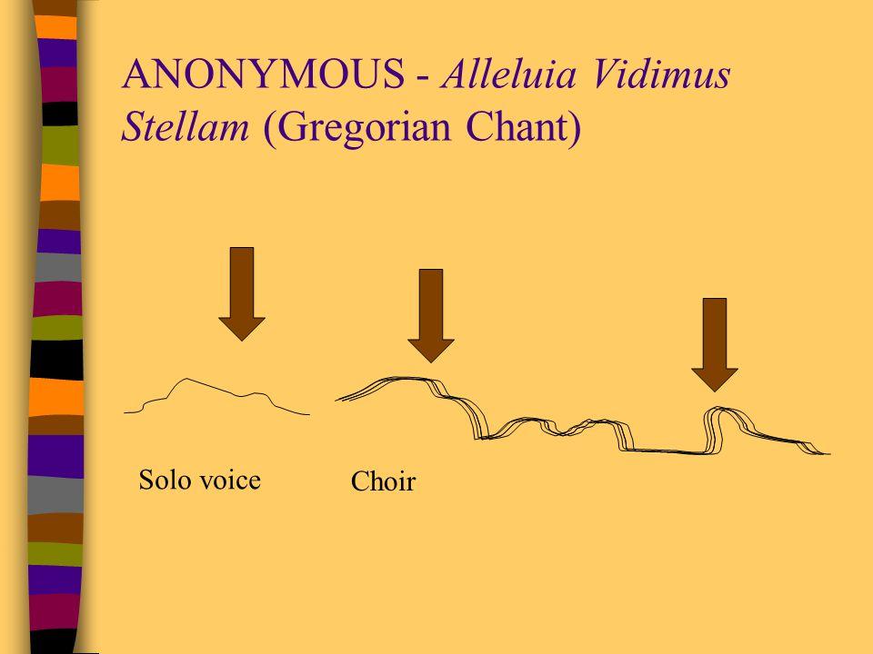 ANONYMOUS - Alleluia Vidimus Stellam (Gregorian Chant)