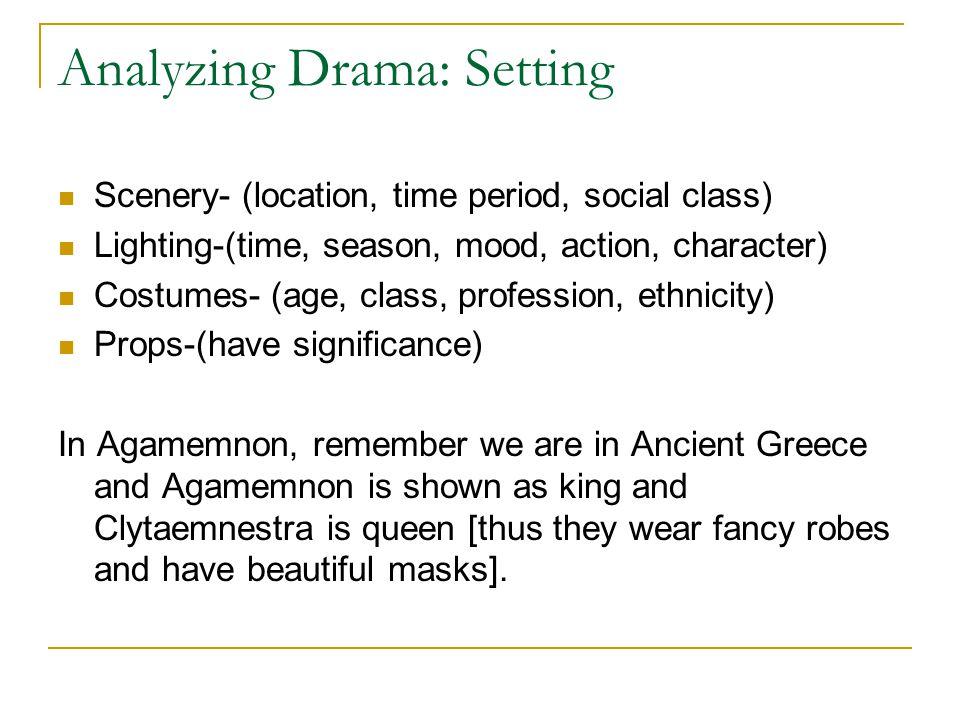 Analyzing Drama: Setting
