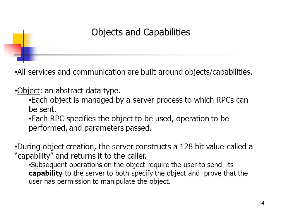 Objects and Capabilities