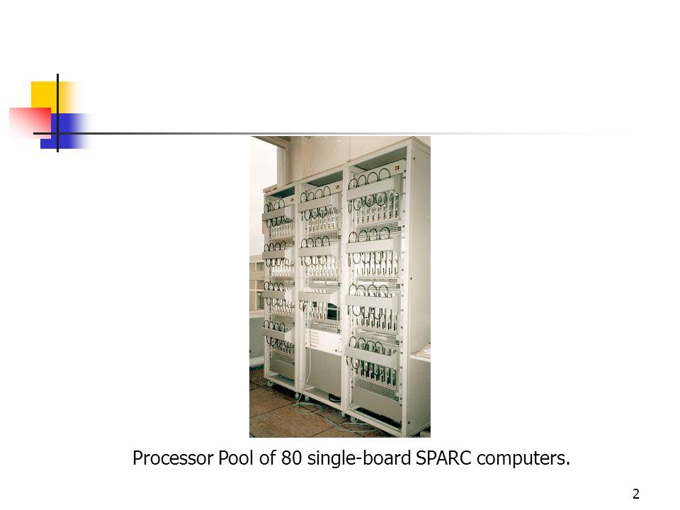 Processor Pool of 80 single-board SPARC computers.
