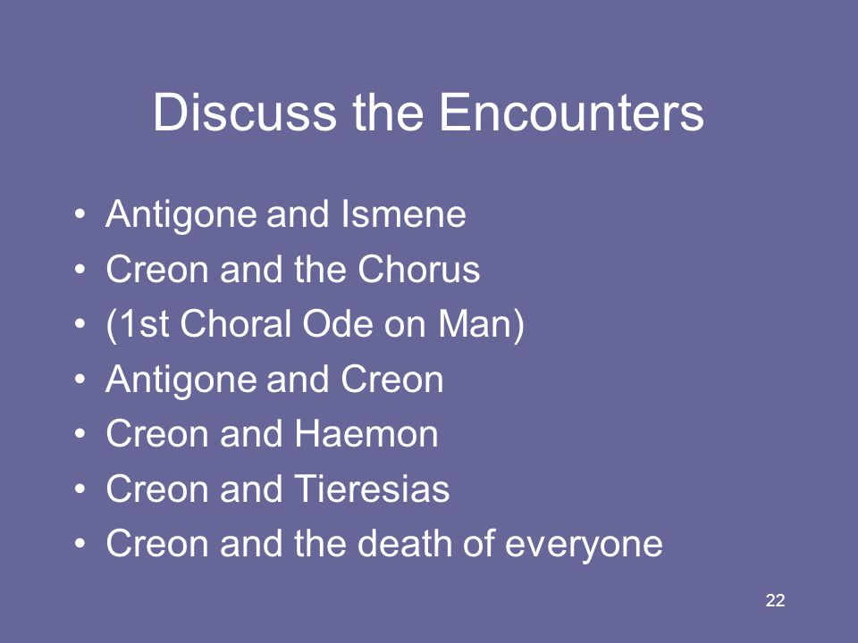 Discuss the Encounters
