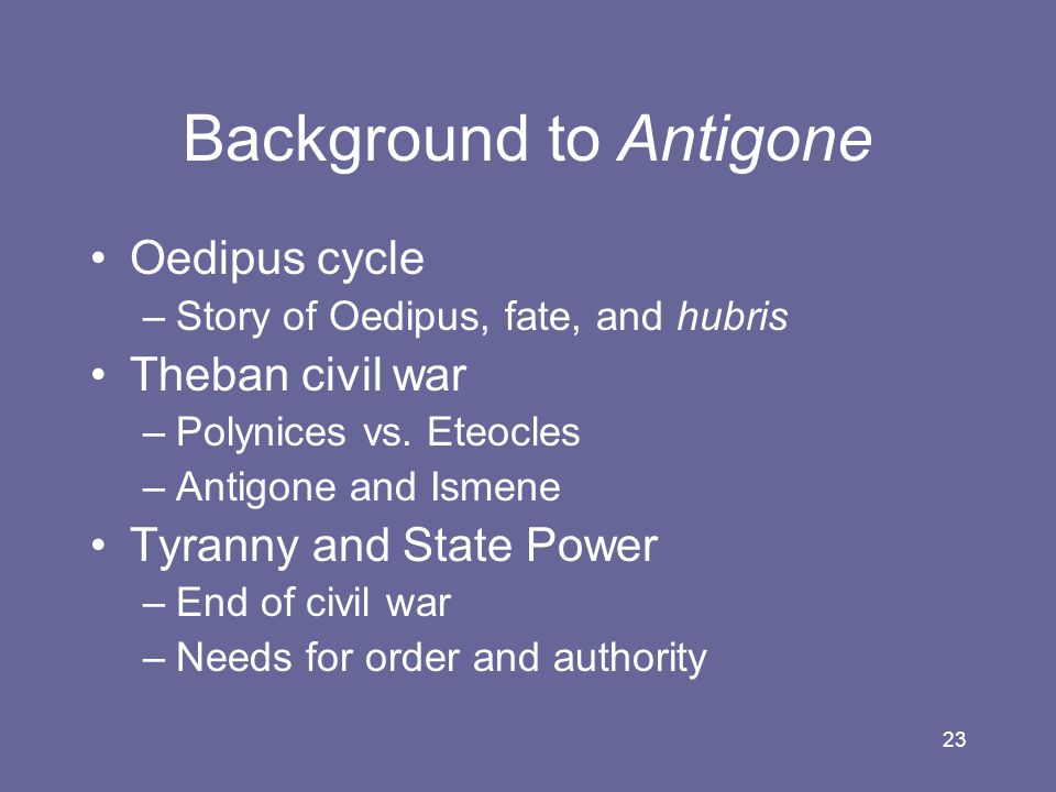Background to Antigone