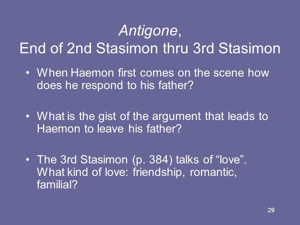 Antigone, End of 2nd Stasimon thru 3rd Stasimon