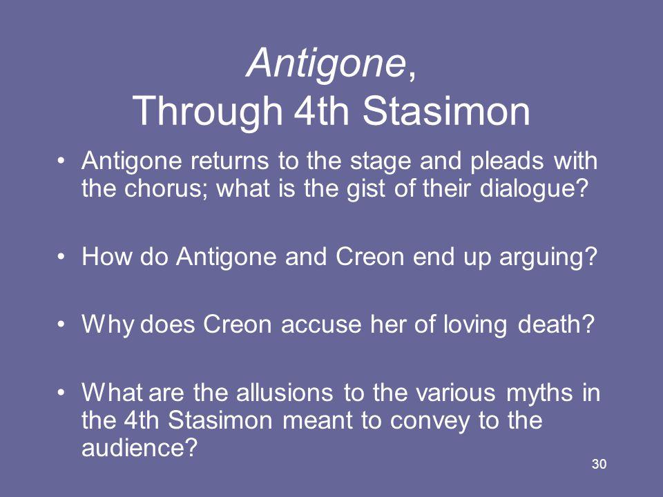 Antigone, Through 4th Stasimon