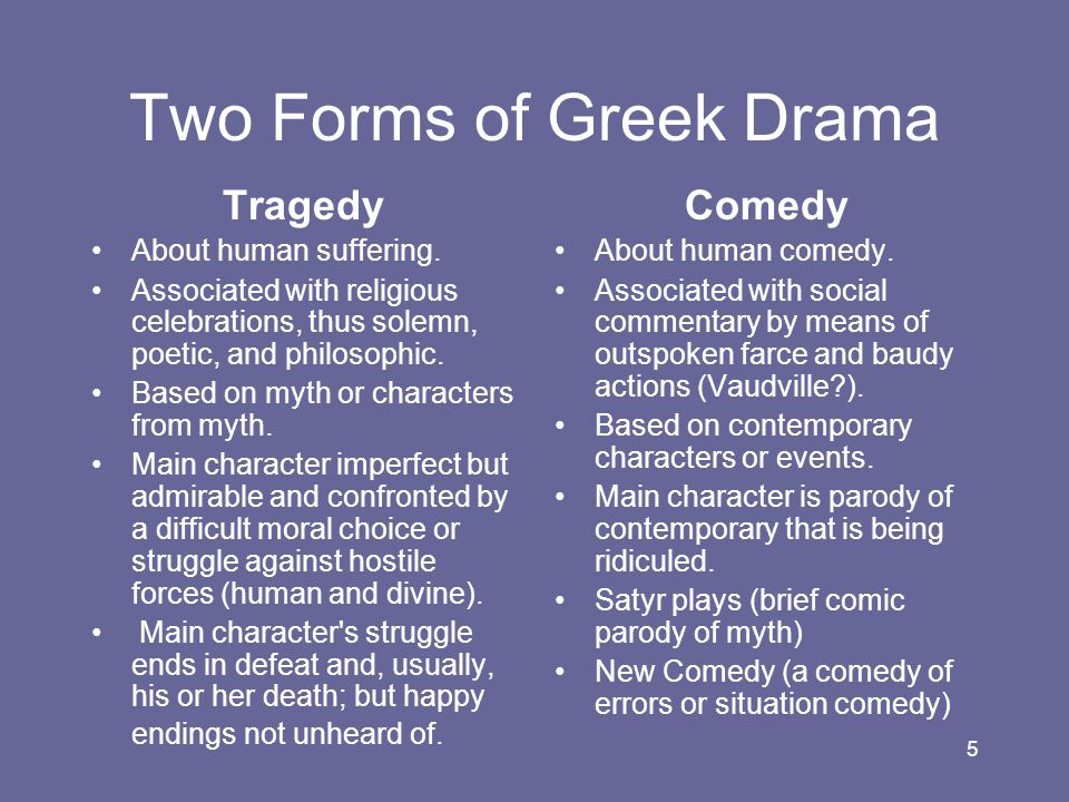 Two Forms of Greek Drama