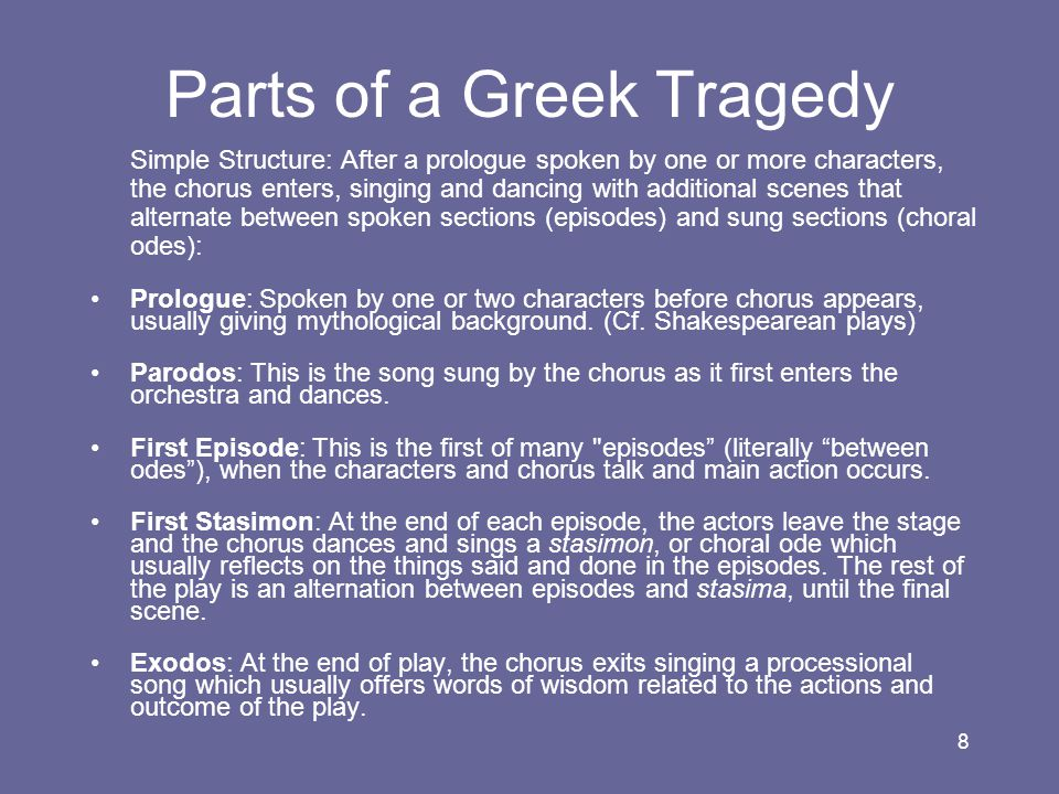 Parts of a Greek Tragedy