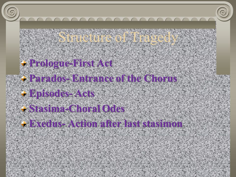 Structure of Tragedy Prologue-First Act