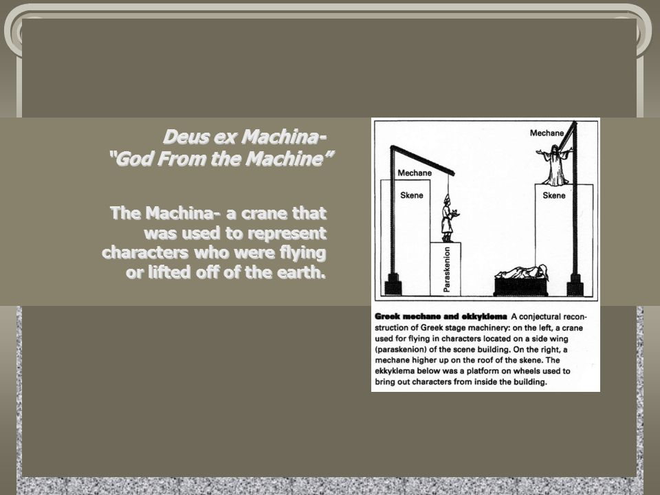 Deus ex Machina- God From the Machine