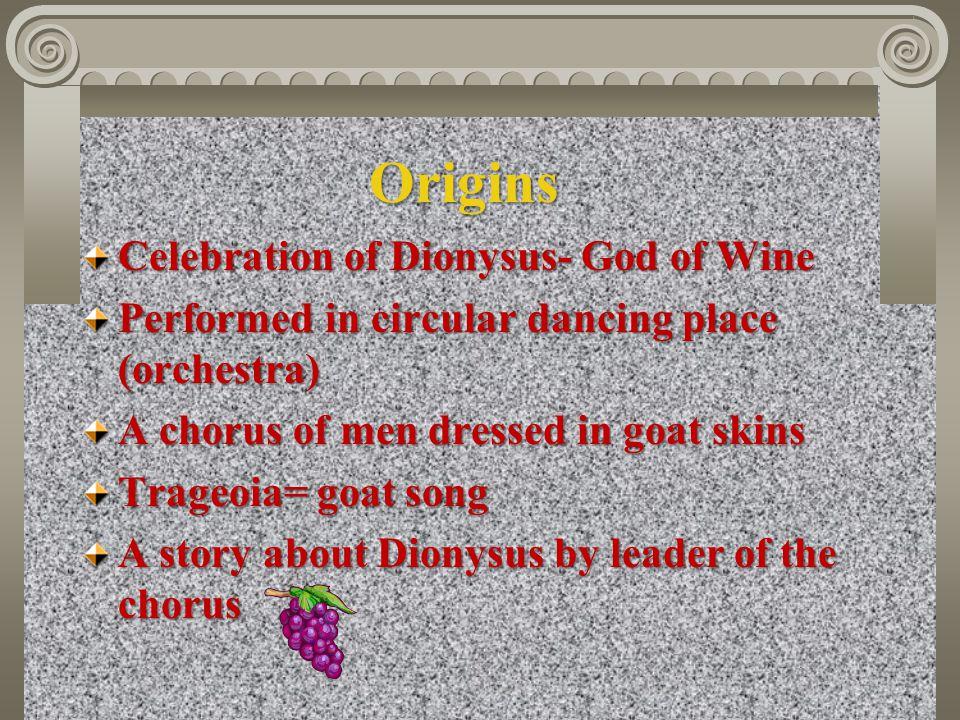 Origins Celebration of Dionysus- God of Wine