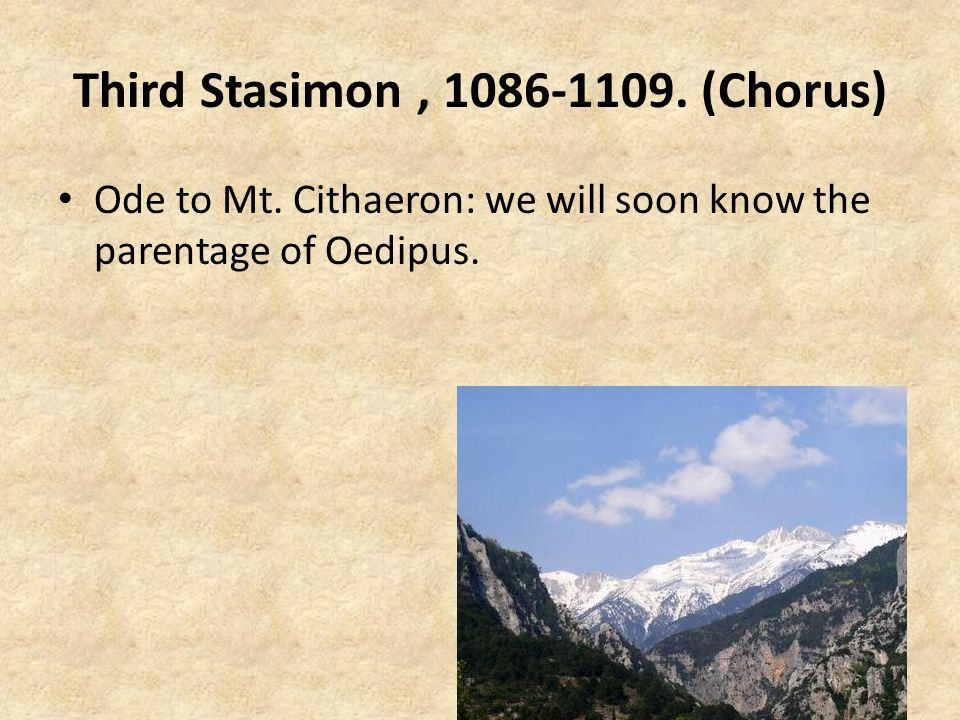 Third Stasimon , 1086-1109. (Chorus)