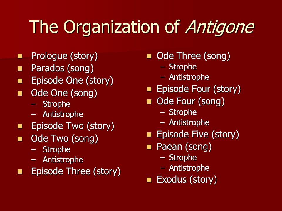 The Organization of Antigone