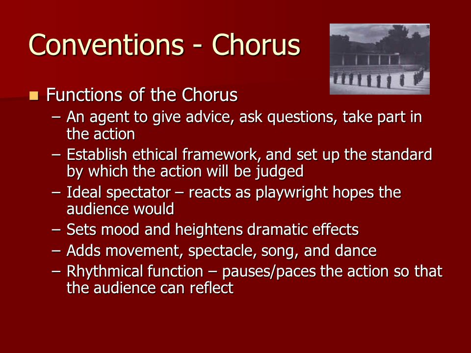 Conventions - Chorus Functions of the Chorus