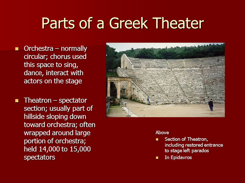 Parts of a Greek Theater