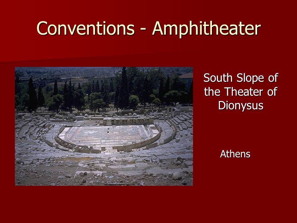 Conventions - Amphitheater