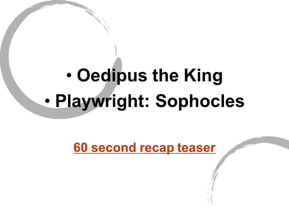 Playwright: Sophocles