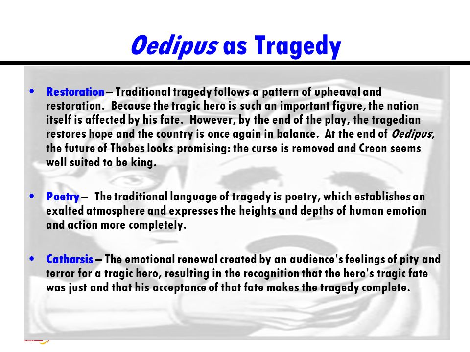 Oedipus as Tragedy