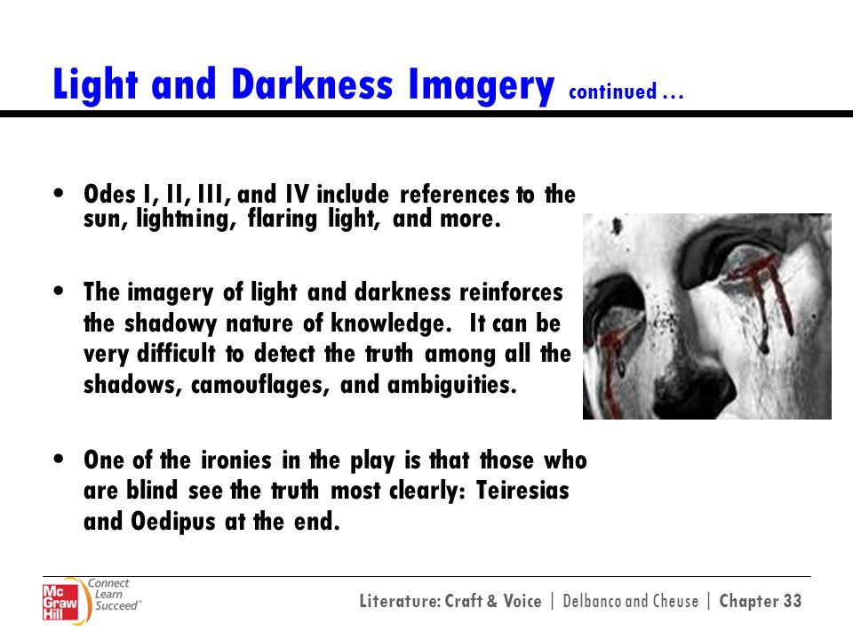 Light and Darkness Imagery continued …