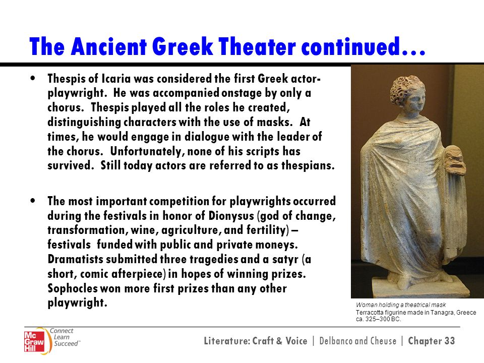 The Ancient Greek Theater continued…