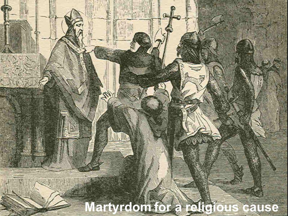 Martyrdom for a religious cause