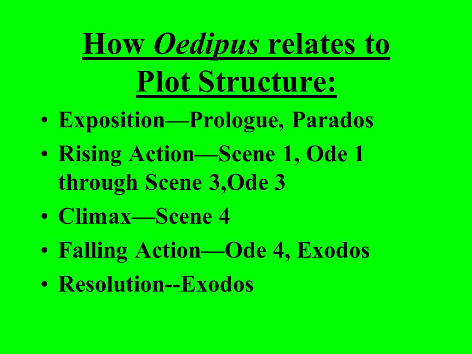 How Oedipus relates to Plot Structure: