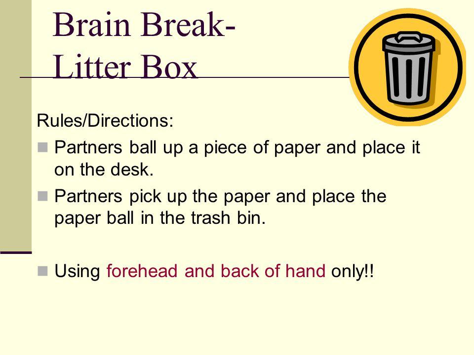 Brain Break- Litter Box