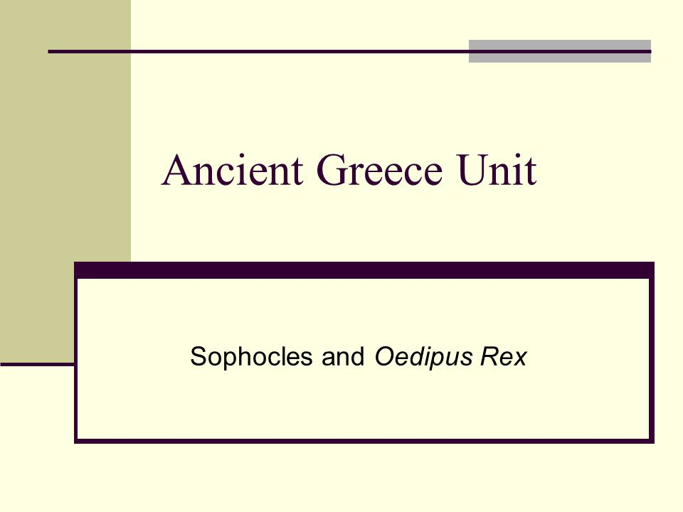 Sophocles and Oedipus Rex