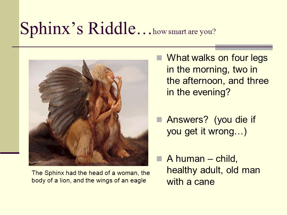 Sphinx's Riddle…how smart are you