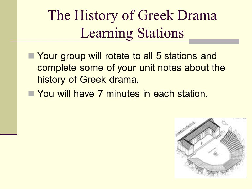 The History of Greek Drama Learning Stations