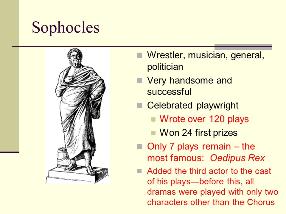 Sophocles Wrestler, musician, general, politician