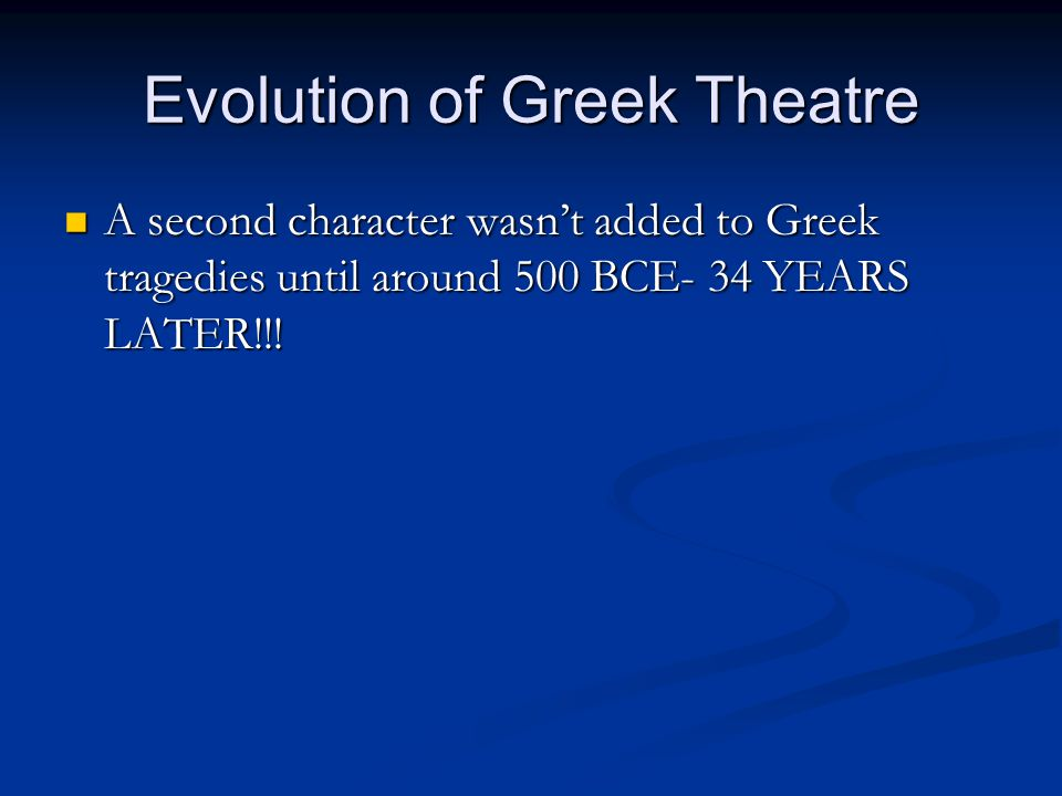 Evolution of Greek Theatre