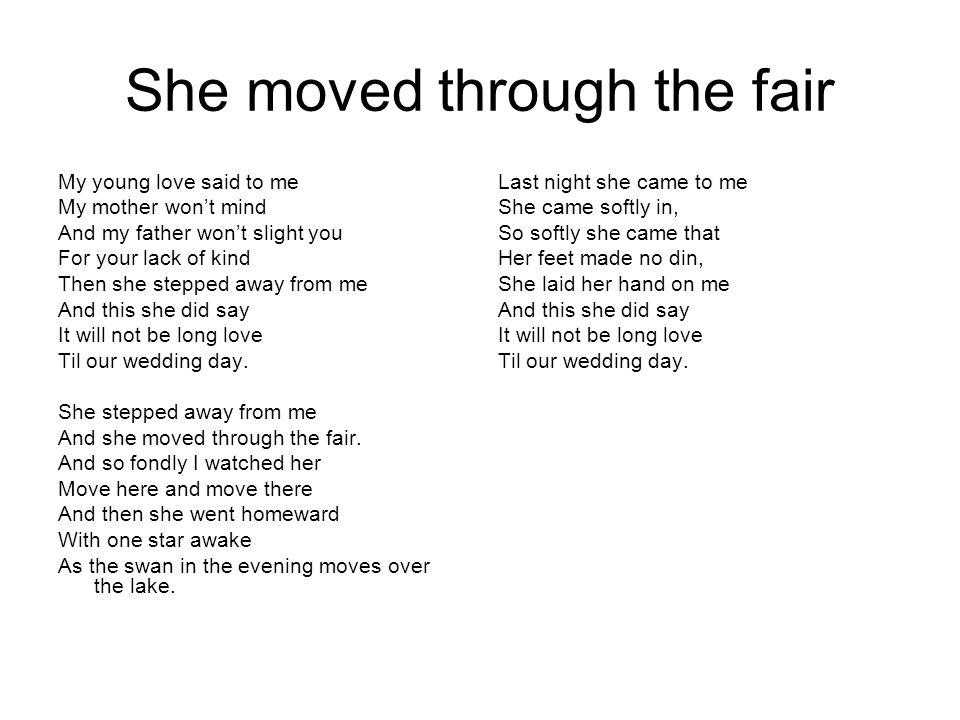 She moved through the fair