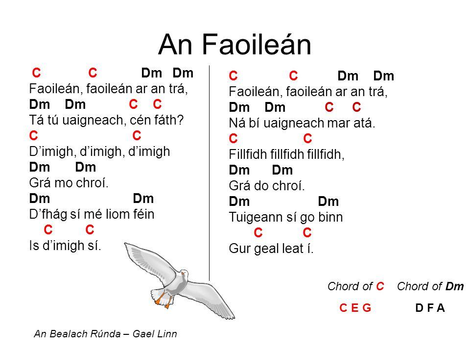 An Faoileán C C Dm Dm Faoileán, faoileán ar an trá,