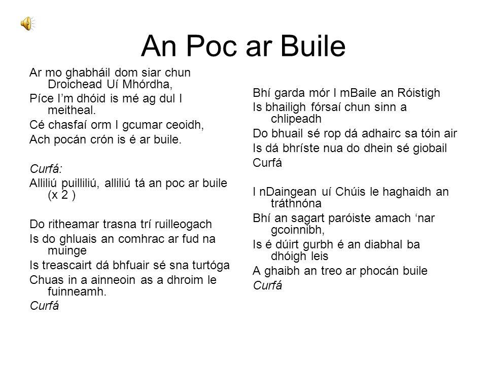 An Poc ar Buile Ar mo ghabháil dom siar chun Droichead Uí Mhórdha,
