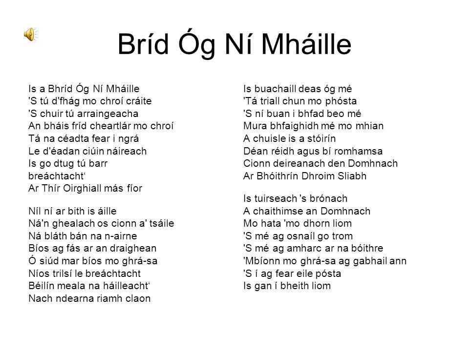 Bríd Óg Ní Mháille Is a Bhríd Óg Ní Mháille