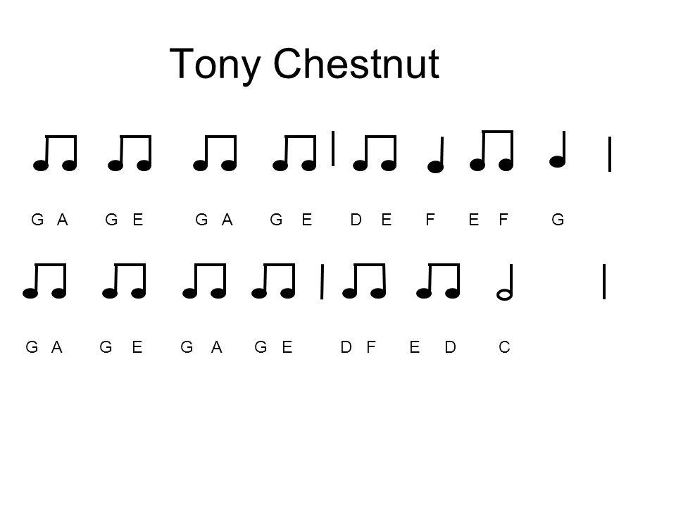 Tony Chestnut G A G E G A G E D E F E F G.