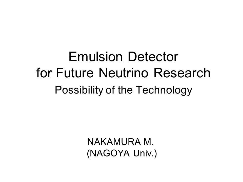 NAKAMURA M. (NAGOYA Univ.)