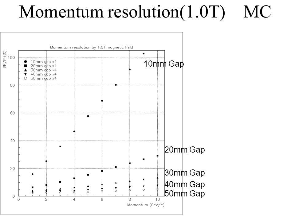 Momentum resolution(1.0T) MC