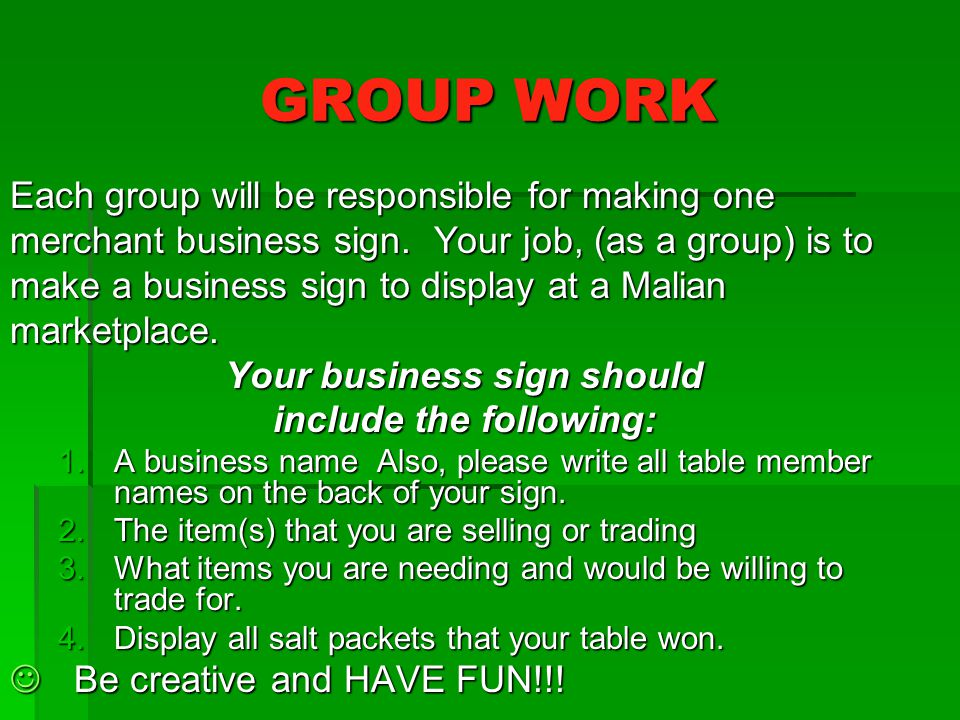 Your business sign should include the following: